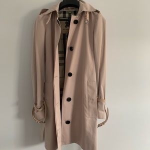 Authentic Burberry ice pink trench coat
